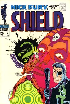 Nick Fury, Agent Of SHIELD #5, October 1968, cover by Jim Steranko