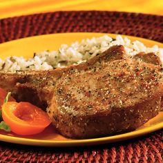 Easy Pork Chop Recipes, Chicken Skillet Recipes, Pork Recipes, Fish Recipes, Slow Cooker Recipes, Cooking Recipes, Healthy Recipes, Cooked Chicken, Yummy Recipes