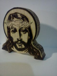 Wooden Jesus medallion
