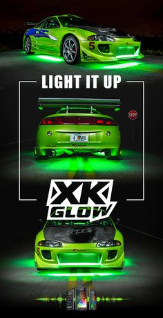 Stand out in the dark with undercar LED lighting. - Stand out in the dark with undercar LED lighting. Tuner Cars, Jdm Cars, Wallpaper Carros, Mitsubishi Eclipse Gsx, Street Racing Cars, Drifting Cars, Japan Cars, Car Tuning, Modified Cars