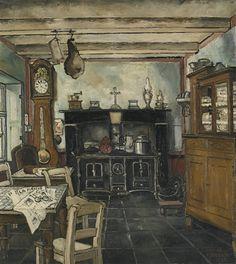 Paul Delvaux - La cuisine (1932)