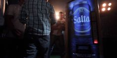 The Most Hardcore Vending Machine Ever- You have to TACKLE it to get a beer. And if you don't tackle it hard enough, no beer for you! Great marketing ploy by Cerveza Salta in Argentina to get rugby fans to buy their beer. It measures your tackle & rates you from a chicken to a bull!