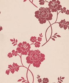 Marciana Cranberry (3373536) - Laura Ashley Wallpapers