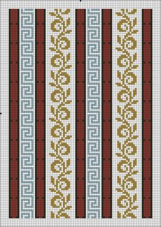 This Pin was discovered by mil Bead Loom Patterns, Weaving Patterns, Knitting Patterns, Cross Stitch Borders, Cross Stitch Designs, Cross Stitch Patterns, Tapestry Crochet, Crochet Motif, Inkle Loom
