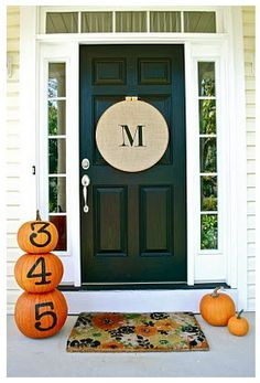 Monogram your dwelling's door!