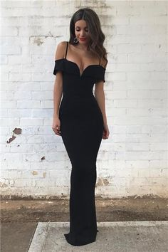Black prom dress, mermaid prom dress,sweetheart neck prom dress,off shoulder long prom gowns
