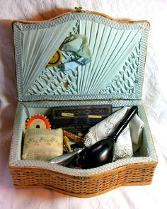 Antique 1920s French Panier de Couture Better Known as A Sewing Basket