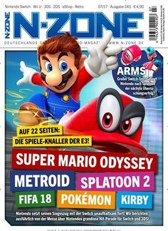 Auf 22 Seiten: Die Spiele-Knaller der #E3! 🎮 #SuperMario #Pokemon #Splatoon2 #Fifa18 #Metroid  In N-Zone:  #Nintendo