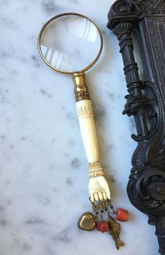 1800s antique French ivory magnifying glass by histoireancienne