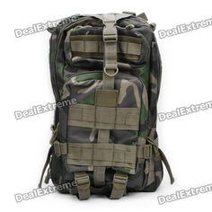 Airsoft Multi-Function Outdoor Military War Game Oxford Fabric Backpack Bag - Camouflage Green  Price: $32.90