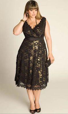 Vestidos cortos de noche para personas con sobrepeso