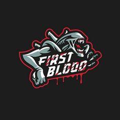 First Blood logo by Game Logo Design, Logo Desing, Logo Esport, Sweet Logo, Sports Team Logos, Esports Logo, First Blood, Sports Graphics, Logo Concept
