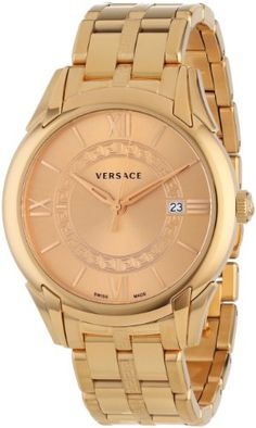"""Versace Men's VFI060013 """"Apollo"""" Rose Gold Ion-Plated Stainless Steel Casual Watch #best #sellers #luxury #watches"""
