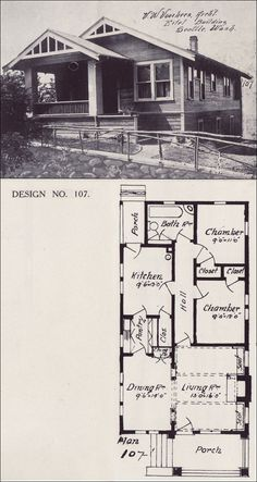 Old Vintage Bungalow House plan Early 1900′s | How to Build Plans ...