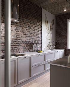 ДА или НЕТ ? #кухня #дизайнкухни #интерьер #дизайнинтерьера #дизайн #кирпичвинтерьере Дизай