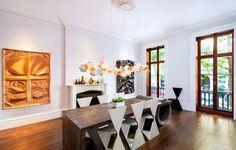 Moderna sala de jantar.  Fotografia: Douglas Elliman.
