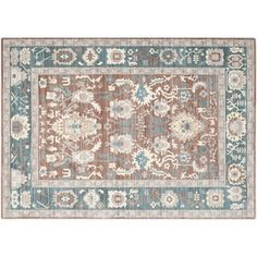 Check out this item at One Kings Lane! Asad Rug, Chocolate/Alpine