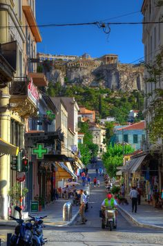 neighborhood in Athens, Grecia Places Around The World, Oh The Places You'll Go, Travel Around The World, Places To Travel, Places To Visit, Around The Worlds, Mykonos, Santorini, Wonderful Places