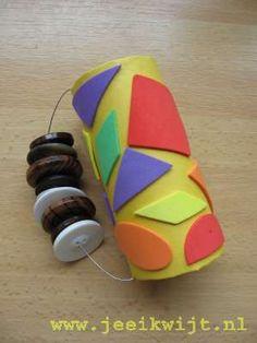 muziekinstrument maken met peuters