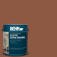 BEHR 1 gal. #PPU3-18 Artisan Satin Enamel Alkyd Interior/Exterior Paint