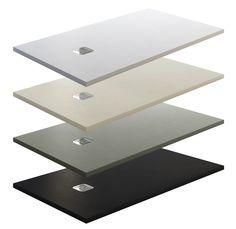 #Platos de Ducha Modelo Stone #carga #mineral extraplano textura #pizarra. Disponible en 4 colores. Admite cortes.