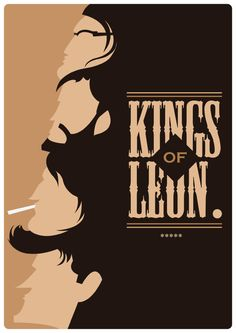 Kings of Leon Print A4 Art Prints Approx 297 x by MrPanesarDesign #illustration #design #print #etsy