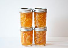 I have been intrigued by this recipe for some time. I saw Ina make it on her show and she made it look so easy. Like caramel, I find jams and jellies to be tricky. I needed to make an orange marmalade for my Orange Tian so I deviated a bit from the [. Jelly Recipes, Jam Recipes, Canning Recipes, Grapefruit Marmalade, Orange Marmalade Recipe, Lemon Marmalade, Chutney, Sauces, Jam And Jelly
