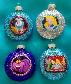 Alice In Wonderland Ornament Set by MysteresMasquerade on Etsy