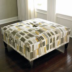 HGTV HOME Custom Square Ottoman #bassettfurniture #ottoman