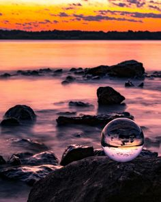 A magical evening at the coast. Take a seat and enjoy the colors! Photography by billy_lightning Wide Angle Photography, Glass Photography, Sunset Photography, Amazing Photography, Bubble Photography, Photography Ideas, Bubble Pictures, Artsy Photos, Immersive Experience