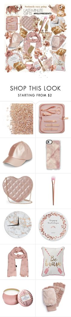 """""""#PolyPresents: Last-Minute Gifts"""" by yvonne1406 ❤ liked on Polyvore featuring Ted Baker, Casetify, Jessica McClintock, Kess InHouse, Thro, Voluspa, Muk Luks, LC Lauren Conrad, contestentry and polyPresents"""