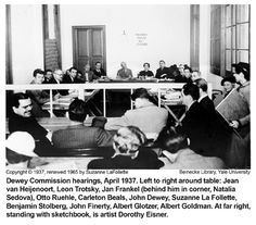 Image result for trotsky commission John Dewey, Learning Theory, Image