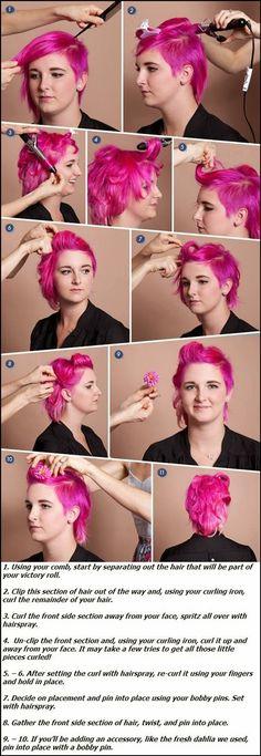 Easy short hair updo tutorial