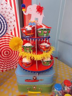 train, circus Birthday Party Ideas | Photo 4 of 20 | Catch My Party