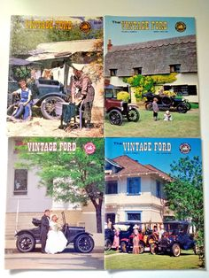 """Lot of 12 """"The Vintage Ford"""" Magazine Back Issues Model T Ford Club of America"""