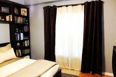 Add texture and depth to your room with MARETE curtains! They also darken the room and provide privacy.