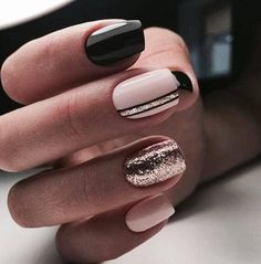 Shared by I N G R I D. Find images and videos about nails, black and pink on We Heart It - the app to get lost in what you love.