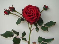 1 Karton Kunstblumen 12 Rosen Dunkelrot 75cm neu in OVP! Blumen Rose