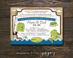 Fishing Baby Shower Invitation by StudioYniguez on Etsy