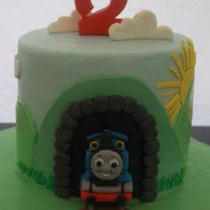 Thomas the tank engine 2nd birthday cake by Vanilla