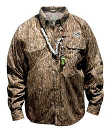 Drake Waterfowl® Systems EST™ Heat-Escape™ Waterproof Button-Up Shirt https://saffordsportinggoods.com/shop/clothing/drake-est-heat-escape-waterproof-button-up-shirt-old-school/