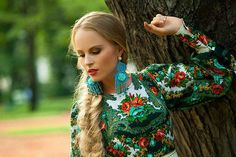 Russian style Dress. Designer Clothing. Exclusive. Individual tailoring. Pavlovo Posad shawl/scarf by DressRussianStyle on Etsy