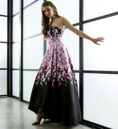 Miakel-Black Floral Gown at WindsorStore