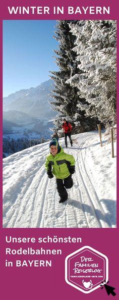 Rodelbahn Bayern gesucht? Hier zeigen wir euch, welche Rodelstrecken in München Nürnberg, Augsburg und in den Bergen in Bayern so richtig Spaß machen – auch kilometerlanger Rodelspaß ist möglich. Das ist ein besonderes Vergnügen in den Bergen! Entweder mit dem Lift hinauf und danach kilometerlang auf dem Schlitten hinunter oder selbst hinauf wandern im Schnee. #rodeln #bayern #rodelbahn Reisen In Europa, Snow, Outdoor, Travel, Winter Vacations, Travel Inspiration, Day Trips, Family Vacations, Outdoors