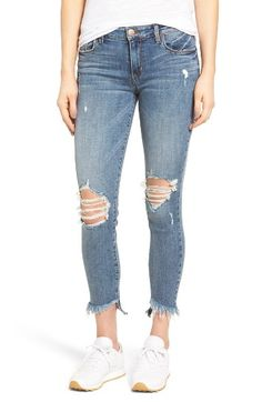 Free shipping and returns on STS Blue Emma Frayed Hem Skinny Jeans (Elings Park) at Nordstrom.com. Ripped knees, threadbare patches and frayed hems add roughed-up attitude to cropped jeans with a bit of comfy stretch.