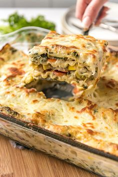 Vegetable Lasagna recipe from Garden Vegetable Lasagna recipe from Vegetable Lasagna Recipes, Vegetable Lasagne, Vegetarian Lasagna Recipe, Garden Vegetable Recipes, Best Pasta Recipes, Cooking Recipes, Healthy Recipes, Recipe Pasta, Lasagna Vegetariana