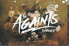 Typographie : Elle est gratuite et elle s'appelle « Againts »