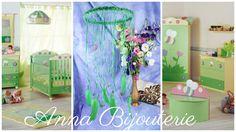 Green Baby Mobile handmade exclusive Dreamcatcher bedroom Baby Mobiles bedding…