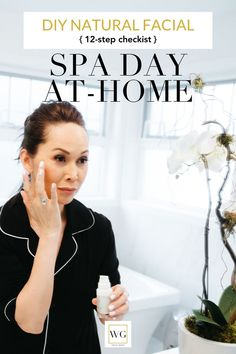 Spa Day at Home 12 step checklist for a great day of self care & self pampering. I love my spa day at home facials. Spa day at home checklist makes it easy. Natural Facial, Natural Skin Care, Natural Beauty Recipes, Best Skin Care Routine, Spa Day At Home, How To Dry Rosemary, Beauty Hacks, Beauty Secrets, Diy Beauty