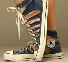 Unique Converse Shoes that my mom would hate!i like em ,though!